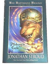 Stroud Ptolemy's Gate Signed Jonathan The Bartimaeus Trilogy Book 3 HCDJ 1st Ed