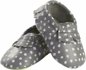 Itzy Ritzy Moc Happens Handmade Genuine Leather Baby Moc 6-12 Months