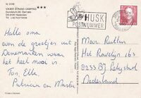 Denmark 1992 Bee Post Slogan Cancel Town Pic StampPost Card to Netherlands 45801