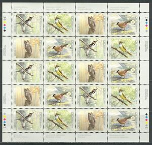 CANADA 1998, CANADA BIRDS 3d IN A SERIES, Scott 1713a, sheet of 5 sets, MNH