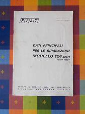 602D - FIAT MODELLO 124 SPORT G. A. DIR. COMM.LE DIREZIONE ASSISTENZA TECNICA