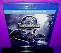 Jurassic World (Blu-ray/DVD, 2015, 2-Disc Set, Includes Digital Copy) NEW B579