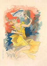 Le Courrier Francais by Jules Cheret 90cm x 64cm Art Paper Print