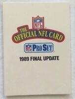 1989 PRO SET NFL Football Final Update Set, #541-561, New in Sealed Pack