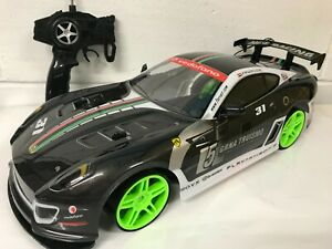 LARGE FAST FERRARI SPORTS DRIFT 4WD RC REMOTE CONTROL CAR 1/10 RECHARGEABLE