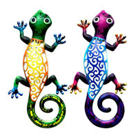 Gecko echte Handarbeit Holz Rosenholz Salamander Tier Figur Skulptur Madagaskar
