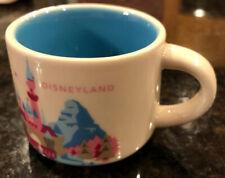 Starbucks Disneyland Mini Mug Disney You Are Here 2oz Pink Blue FAC-014182-15266