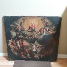 17TH C. ANTIQUE OLD MASTER OIL PAINTING RESURRECTION OF CHRIST FEDERICO BAROCCI?
