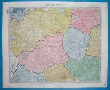1849 DETAILED RARE ORIGINAL MAP OF RUSSIA MOSCOW PETERSBURG NOVGOROD SMOLENSK