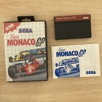 Sega Master System Super Monaco GP Game Box + Manual