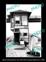 OLD 8x6 HISTORIC PHOTO OF ALTOONA PENNSYLVANIA THE WORKS RAILROAD TOWER c1940
