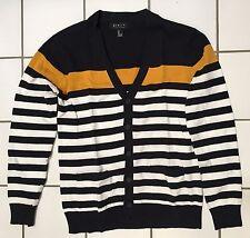 21 Men Cardigan knit sweater stripes Size Small