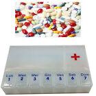 Récipient Pilulier Porte Comprimés Pilules Médicaments 9 Espaces Du Sac 404