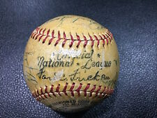 FORD FRICK OFFICIAL BASEBALL SIGNED BY ORVAL GROVE + 15 OTHERS