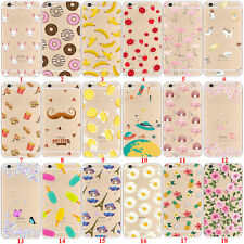 Fruit Pattern Soft TPU Clear Back Cover Custodie Case For iPhone SE 5 5s 6s Plus