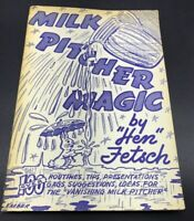 Milk Pitcher Magic Routines Tricks Tips Gags Ideas 1962