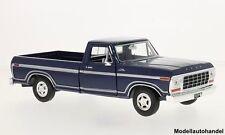 Ford F-150 Custom dunkelblau 1979 - 1:24 MotorMax