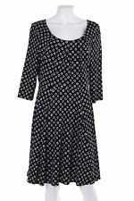 TAIFUN Kleid Damenkleid Viskose Punkte D 42 schwarz-weiß