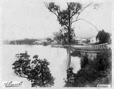 Photo. 1888-9. North Quay, Brisbane, Australia. Protective Wall