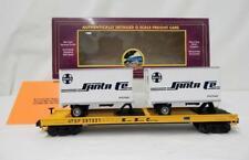 MTH 20-98121 Santa Fe Railroad flatcar w/ two 20' trailers Premier O scale 29722