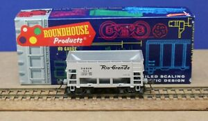 Roundhouse 1324 HO Rio Grande 26' Ore Car Silver Built KDs MW Sprung Trucks Box