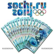 "100 RUBLES RUSSIAN BANKNOTE RARE ""AA"" SERIES 2014 OLYMPIC GAME SOCHI COIN"