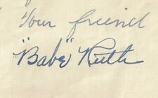 BABE RUTH JSA CERTIFIED AUTHENTIC SIGNED LETTER AUTOGRAPHED YANKEES MINT!