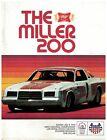 1978  Miller High Life 200  Race Program Milwaukee