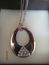 DV ITALY Sterling Silver Large Pendant Heavy Link Chain Necklace 21gr NIB Wow!