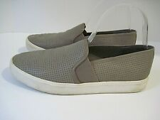 Women's Vince Taupe Perforated Leather Blair Slip On Loafers Shoes Size 8 M