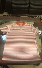 NIKE Golf Dry Victory Stripe Men's Golf Polo ORANGE/WHITE/BLACK SZ M 891853-802