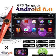 """Android 7.1 4G WIFI 7"""" Double 2DIN Car Radio Stereo DVD Player GPS Nav Bluetooth"""