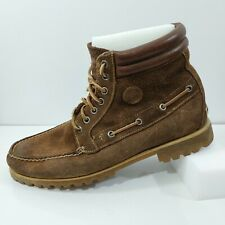 Timberland Chukka Sz US 10.5 Brown Suede Leather Moc Toe Waterproof Ankle Boots