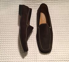 TOD'S Tods Suede Loafers Moccasins Driving Shoes Dress Drivers $545 Brown 10
