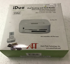 New Apple - IDuo Docking USB2.0 iPod/iPhone CF/SD/MMC/SM/MS/MSpro card reader