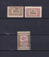 TURKEY 1930, Sc#RAC16-RAC20, part of set, MH/No gum