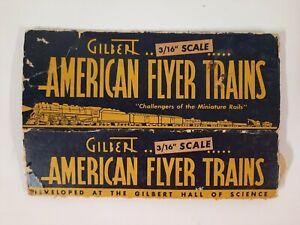 "GILBERT AMERICAN FLYER TRAIBS 3/16"" SCALE box VINTAGE 3""x8"""