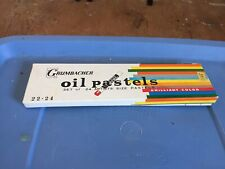 Grumbacher Oil Pastels 24 Colors for Artists Drawing Japan Original Box