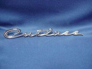 NOS Oldsmobile Cutlass Script Chrome Emblem hood, grille,  or fender ornament