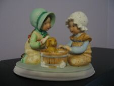 Holly Hobbie Designers Collection figurine 2 Girls Bathing a Puppy