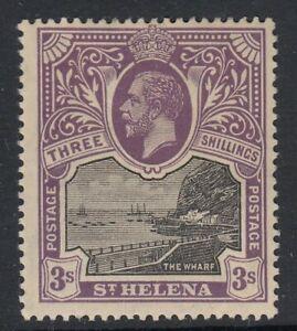 ST.HELENA SG81 1913 3/= BLACK & VIOLET  MTD MINT