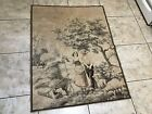 Lot# 2005. Vintage Country Scene with Courting Couple Tapestry