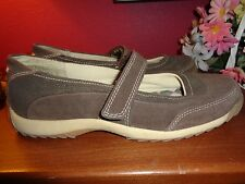 AIRWALK 8M BROWN LEATHER & SYNTHETIC MARY JANES WITH RUBBER SOLES EXCELLENT