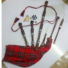 Scottish Great Highland Bagpipe Rosewood Natural Finish Silver mount & P.Chanter