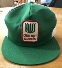 Vintage Diener Seeds Snapback Mesh Patch Trucker Hat Usa Style 20527 Adjustable
