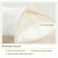 100% 19 Momme Silk Pillow Case Cover  Mulberry Silk Pillowcase Envelope Closure