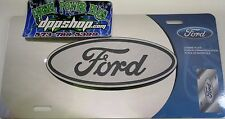 Ford mtrrored Stainless steel license plate tag logo emblem 3D pickup truck Car