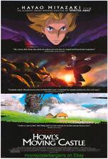 HOWL'S Moving Castle Póster Película Hayao Miyazaki Original Ds Brillante 27x40
