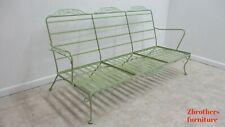 Vintage Woodard Metal Patio Outdoor Lounge Sofa Couch Settee