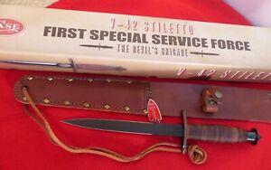 Case XX USA mint in box V-42 Stiletto Devil's Brigade knife